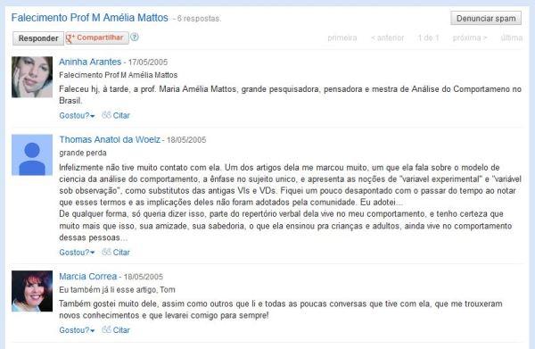 Ana Arantes reporta a triste notícia do falecimento da Professora Maria Amélia Matos