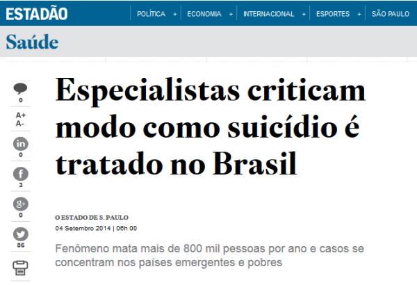 O Estadão 3 - Especialistas criticam Brasil